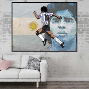 poster maradona argentine