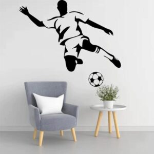 stickers muraux footballeurs