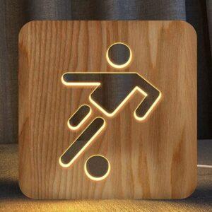 lampe de chevet foot en bois