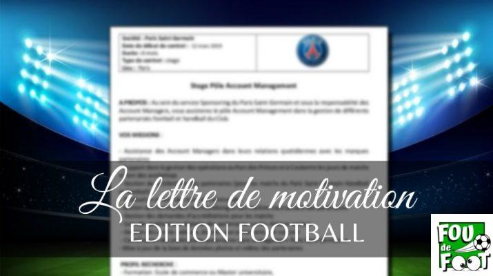 lettre de motivation football