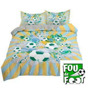 parure de lit jaune