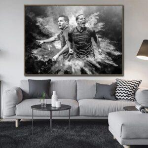 poster légendes manchester united
