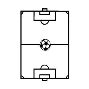 terrain de foot sticker