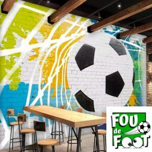 papier peint ballon de foot