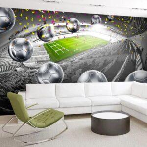 papier peint stade de foot
