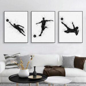 poster foot noir et blanc